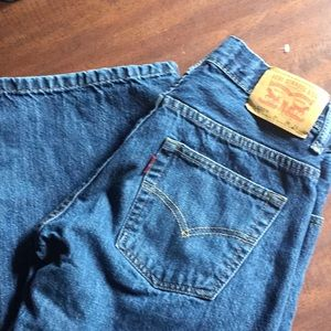 LEVIS 550 RELAXED JEANS SIZE 8 HUSKY